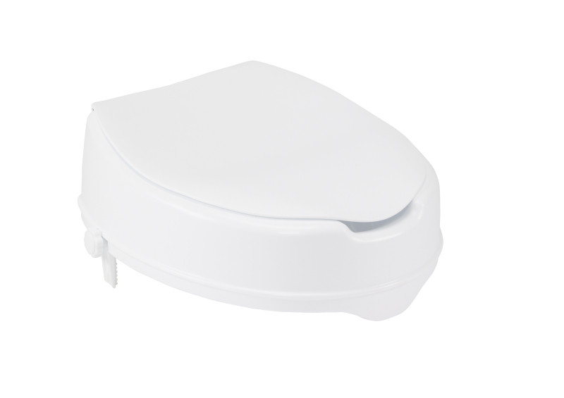 Raised Toilet Seat With Lock And Lid Standard Seat 4