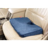 CareActive Coccyx Wedge Velour Cover Memory Foam Navy