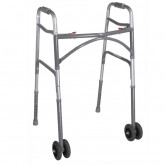 Drive Medical Heavy Duty Bariatric Two Button Walker with Wheels