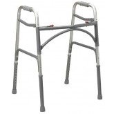 Drive Medical Double-Button Ex-Wide Junior Folding Walker (Bariatric)