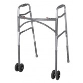 Drive Medical Bariatric Adult Folding Walker w/Wheels  Double Button