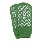 Medline Industries Inc. Slipper Socks; Med Green Pair Men's 5-6  Wms 6-7 Child 7-11