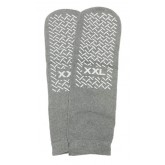 Medline Industries Inc. Slipper Socks; XXL Grey Pair Men's 12-13