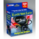 Maddak Inc. Shoe Laces Elastic Black 30  Pk/3 pr