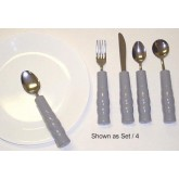 Kinsman Enterprises, Inc. Weighted Utensils Set/4 Tea & Soupspoon Fork & Knife