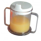 Drive Medical Mug Double-Handed w/Lid