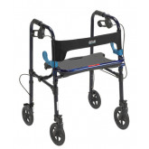 Drive Medical Clever Lite Folding Walker w/Seat and Brakes
