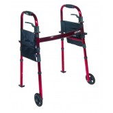 Drive Medical Deluxe Folding Travel Walker Red