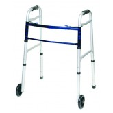 Compass Health Folding Walker w/5  Wheels Adult--(ProBasic)