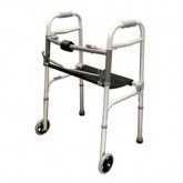 Compass Health Walker w/Seat Adult  2-Button & 5  Wheels  Roscoe