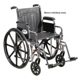 Drive Medical Wheelchair Std Rem Full Arms Elev Legrests  20  Heavy Duty