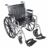 Drive Medical Wheelchair Std Rem Full Arms 20   Elevating Leg Rests
