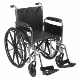 Drive Medical Wheelchair Std Rem Full Arms 20   Swingaway Footrests