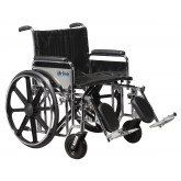 Drive Medical Bariatric Wheelchair Rem Full Arms  22  Wide w/ ELR
