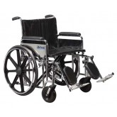 Drive Medical Wheelchair  Ex. Hvy Duty  24  Det Full Arms & S/A Footrests