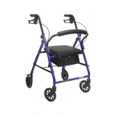 Compass Health Aluminum Rollator w/Loop Brake Burgundy  (PMI) 4-Wheel