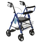 Compass Health Combination Red Rollator & Transport Wheelchair