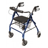 Graham-Field Health Rollator 4-Whl Lite Royal Blue Pad Seat  Loop Brk - Lumex