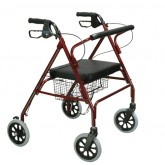 Drive Medical Rollator Oversize With Loop Bk Red Bariatric Steel(10215RD-1)