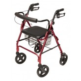 Graham-Field Health Rollator  Walkabout ConTour Deluxe  4 Wheel  Burgundy