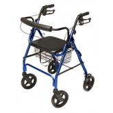 Graham-Field Health Rollator  Walkabout ConTour Deluxe  4 Wheel  Royal Blue
