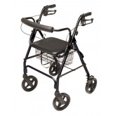 Graham-Field Health Rollator  Walkabout ConTour Deluxe  4 Wheel  Black