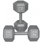Ader Sporting Goods Inc Dumbbell  Steel  Hexaganol 40 pound