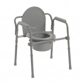 Drive Medical Steel Folding Bedside Commode