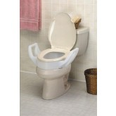 Maddak Inc. Elevated Toilet Seat w/Arms Standard 19  Wide