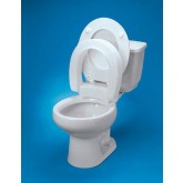 Maddak Inc. Raised Toilet Seat Elongated Hinged