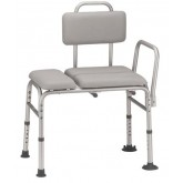 Drive Medical Transfer Bench Padded KD  Gray