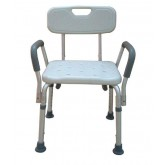 Compass Health Bath Bench Adj Ht. w/Back-KD Remov. Padded Arms  (PMI)