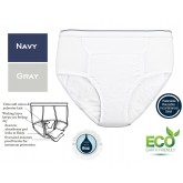 CareActive Men's Reusable Incontinence Brief 3-Pack Assorted Colors Large