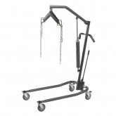 "Drive Medical Hydraulic Patient Lift with Six Point Cradle, 5"" Casters, Silver Vein"