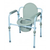 Drive Medical Commode  Folding Steel Retail Packaged