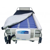 Drive Medical Med Aire Plus Defined Perimeter Low Air Loss Mattress Replacement System, with Low Pressure Alarm, 8""