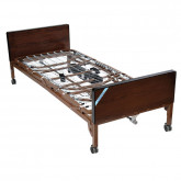 Drive Medical Delta Ultra Light Full Electric Hospital Bed with Half Rails and Innerspring Mattress