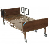 Drive Medical Full Electric Heavy Duty Bariatric Hospital Bed, with 1 Set of T Rails