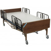 Drive Medical Full Electric Heavy Duty Bariatric Hospital Bed, with Mattress and 1 Set of T Rails