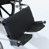 New York Orthopedic USA Leg Rest Pad for Wheelchairs Navy  16 w X 9 h