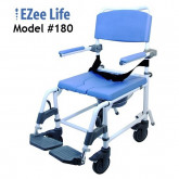 "Ezee Life Aluminum Shower Commode chair 18"" seat"