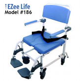 "Ezee Life Aluminum Shower Commode Chair 22"" seat"