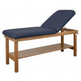 In Source Treatment Table 30  X 72  H-Br with Shelf & Backrest Wooden