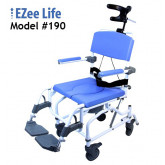 Ezee Life Aluminum Tilt Shower Commode Chair 18""