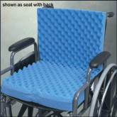 Hermell Products Inc. Convoluted Wheelchair Cushion w/Back & Blue Polycotton Cover