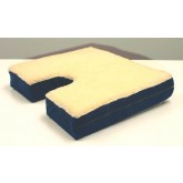 Rose Health Care, L.L.C. Coccyx Gel Seat Cushion w/ Fleece Top  18 Wx16 D x 3