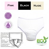 CareActive Ladies Reusable Incontinence Panty 6oz 3-Pack Assorted Colors Medium