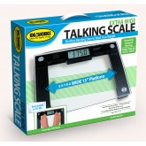 North American Talking X-Wide Glass Scale 550# Wt. Cap.