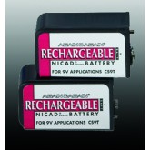 Compass Health Battery-9V Nicad (pair) Rechargeable