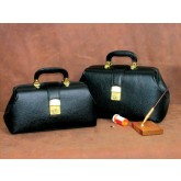 Professional Case Intern/Student Boston Bag 14  Black Leather